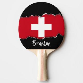 Raquette Tennis De Table Drapeau de la Suisse