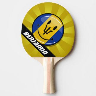 Raquette Tennis De Table Drapeau de sourire des Barbade