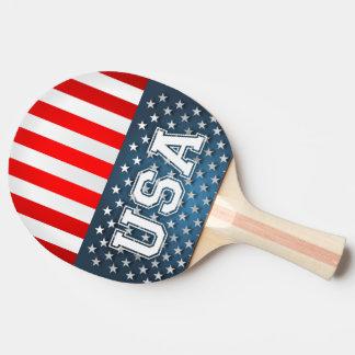 Raquette Tennis De Table Drapeau des Etats-Unis