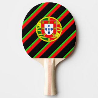 Raquette Tennis De Table Drapeau portugais de rayures