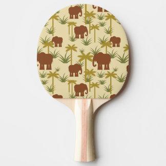Raquette Tennis De Table Éléphants et paumes dans le camouflage