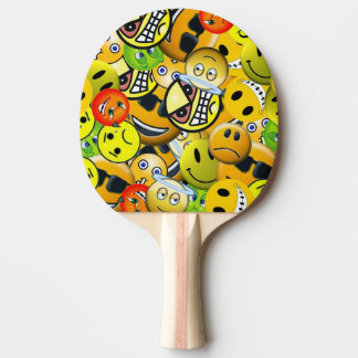Raquette Tennis De Table Emoji a animé des visages