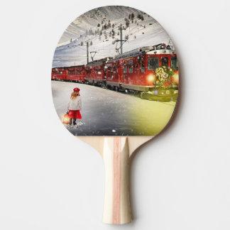 Raquette Tennis De Table Express de Pôle Nord - train de Noël - train de