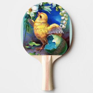 Raquette Tennis De Table Falln un poussin heureux de Pâques