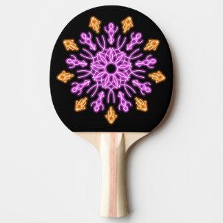 Raquette Tennis De Table Fleur au néon rose et orange