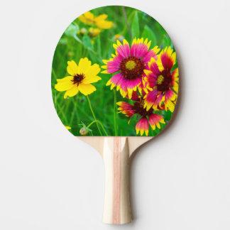 Raquette Tennis De Table Fleurs sauvages de prairie dans le pays de colline