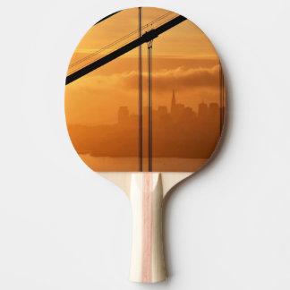 Raquette Tennis De Table Golden gate bridge devant San Francisco