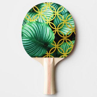 Raquette Tennis De Table Illustration moderne tropicale géométrique de