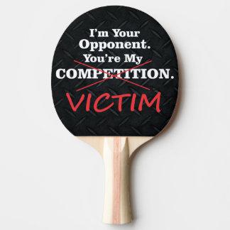 Raquette Tennis De Table La concurrence drôle de victime claquent la