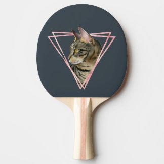 Raquette Tennis De Table Le chat tigré avec le Faux rougissent cadre