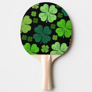 Raquette Tennis De Table Le jour de Patrick de saint, trèfles - noir vert