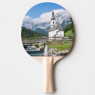 Raquette Tennis De Table L'église paroissiale de Ramsau en Bavière,