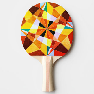 Raquette Tennis De Table Les couleurs chaudes refroidissent des formes