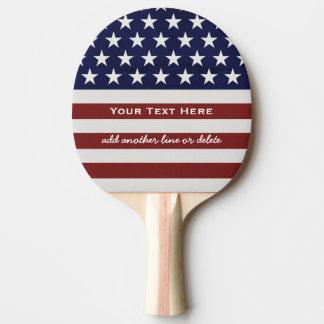 Raquette Tennis De Table Les Etats-Unis drapeau américain coutume