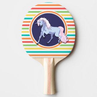 Raquette Tennis De Table Licorne pourpre sur les rayures lumineuses