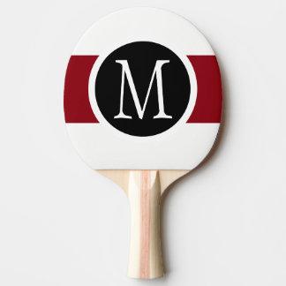 Raquette Tennis De Table Ligne noire, blanche et rouge élégamment élégante