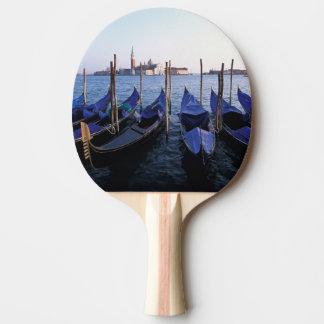 Raquette Tennis De Table L'Italie, la Vénétie, Venise, rangée des gondoles