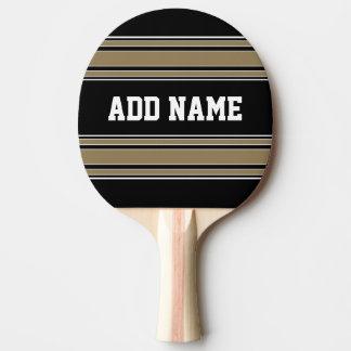 Raquette Tennis De Table L'or barre le nom du Jersey de sports - PEUT la