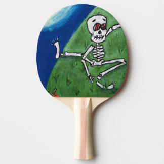 Raquette Tennis De Table Lune squelettique drôle de danse Halloween de
