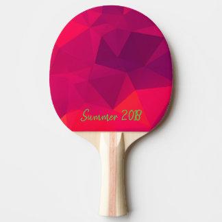 Raquette Tennis De Table Modèle géométrique rose de fractale