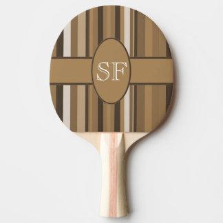 Raquette Tennis De Table Monogramme beige de rayure de Brown