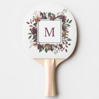 Raquette Tennis De Table Monogramme botanique épicé de  