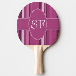 Raquette Tennis De Table Monogramme rose de rayure