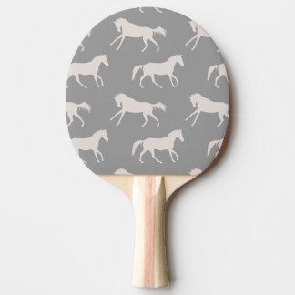 Raquette Tennis De Table Motif galopant gris de chevaux