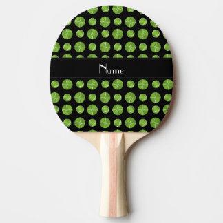 Raquette Tennis De Table Motif noir nommé personnalisé de balles de tennis