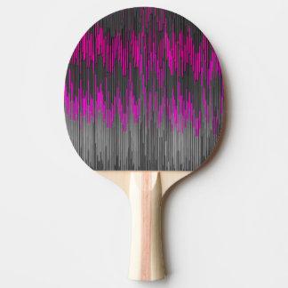 Raquette Tennis De Table Motif noir rose au néon à la mode de Chevron de