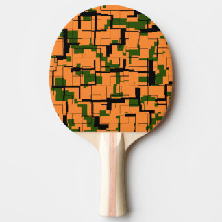 Raquette Tennis De Table Motif noir vert orange de Digitals Camo