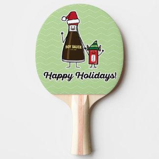 Raquette Tennis De Table Noël Père Noël d'enfant d'enfant de paquet de