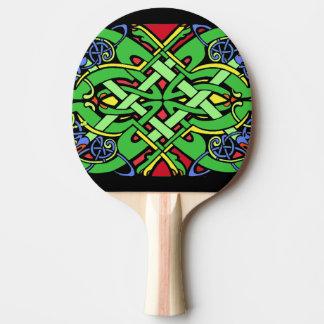 Raquette Tennis De Table Noeud celtique irlandais fleuri coloré