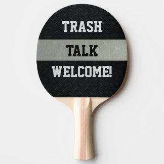 Raquette Tennis De Table Noir et palette drôle d'entretien de déchets