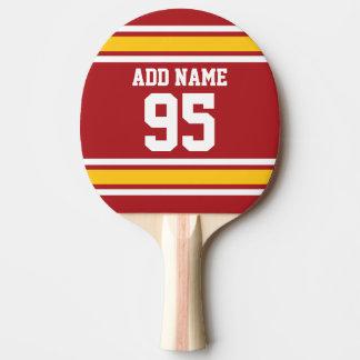 Raquette Tennis De Table Nombre nommé fait sur commande du Jersey du