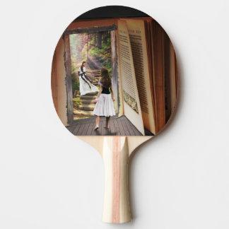 Raquette Tennis De Table Obtention perdue dans l'imagination tandis que
