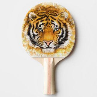 Raquette Tennis De Table Palette artistique de ping-pong de visage de tigre