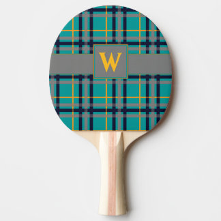 Raquette Tennis De Table Palette bleue et orange de ping-pong de plaid