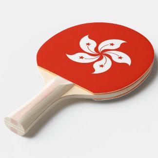Raquette Tennis De Table Palette de ping-pong avec le drapeau de Hong Kong