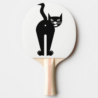 Raquette Tennis De Table Palette de ping-pong. Chat