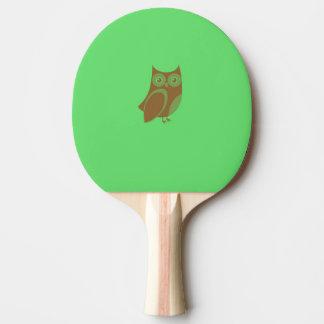 Raquette Tennis De Table Palette de ping-pong de hibou de Brown