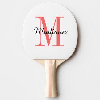 Raquette Tennis De Table Palette de ping-pong personnalisée par monogramme
