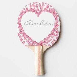 Raquette Tennis De Table Palette faite sur commande de ping-pong de coeur
