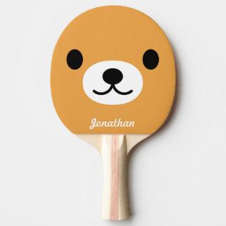 Raquette Tennis De Table Palette mignonne de ping-pong de l'ours des