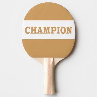 Raquette Tennis De Table Palette noire de puanteur de Pin de dos en