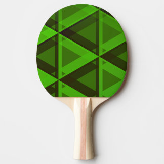 Raquette Tennis De Table Palette verte abstraite de motif de triangles