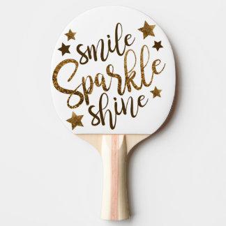 Raquette Tennis De Table Palettes de ping-pong de sourire, d'étincelle et