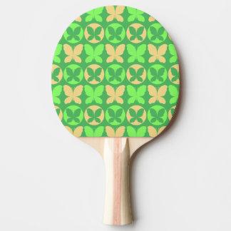 Raquette Tennis De Table Papillon jaune-clair Patt de papillons de vert de