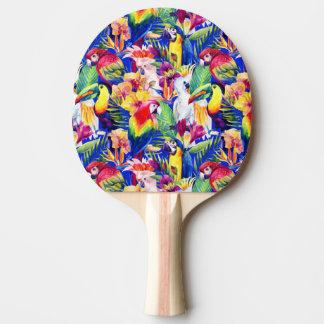 Raquette Tennis De Table Perroquets d'aquarelle