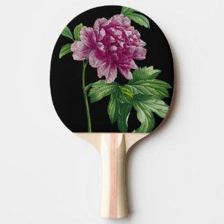 Raquette Tennis De Table Pivoine rose sur chic noir